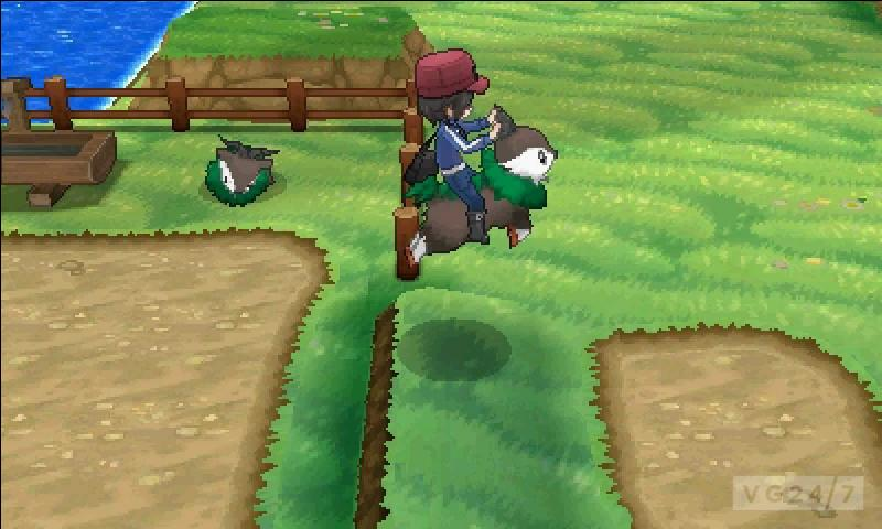 Sur quel Pokémon le héros grimpe-t-il ? Voyez la photo ci-contre.