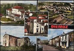 Cette carte nous montre différentes vues de la commune Iséroise de Diémoz. Elle se situe en région ...