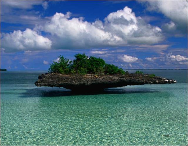 Ce paysage étrange méritait sa petite place dans le quiz. Vous avez devant vous l'atoll _________ aux _________ :