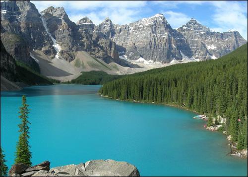 Voici un paysage du parc national de ______ au Canada :