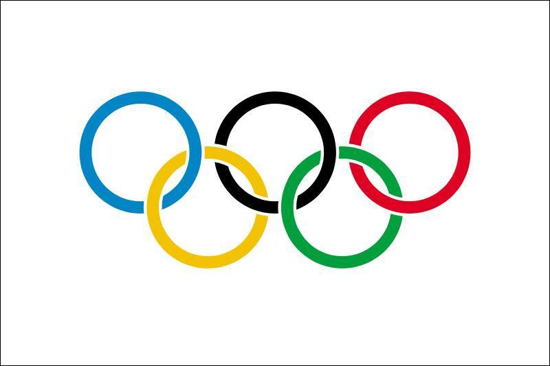 Le drapeau Olympique est composé de cinq anneaux de couleurs, représentant chacun un continent. Quelle est la couleur de celui représentant l'Europe ?