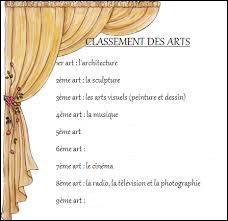 Classification des arts - Le cinéma est le 7e art. La bande dessinée, quant à elle, est considérée comme le ...