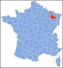 Reconnaissable par sa forme, voici la Meurthe-et-Moselle. Saurez-vous trouver les bonnes réponses concernant ce département ?