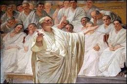Quel célèbre orateur, ardent défenseur de la République, se soumettra finalement à César ?