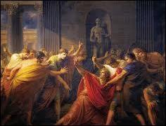 Dans quel lieu Jules César a-t-il été assassiné le 15 mars de l'an -44 ?