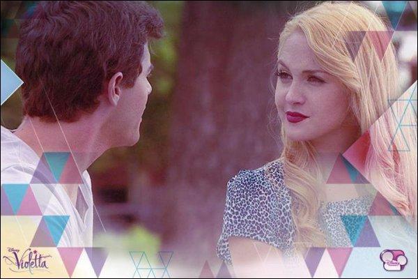 Dans l'épisode 75, comment Violetta découvre-t-elle le plan de Ludmila et Diego ?