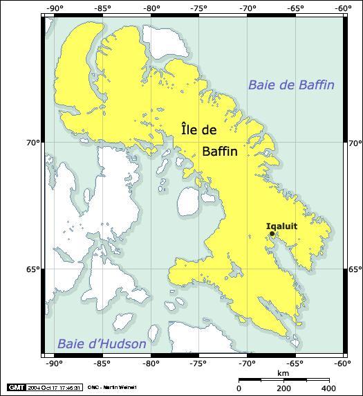 L'île de Baffin, située au Canada, est la deuxième plus vaste île d'Amérique et la sixième plus vaste au monde. Combien compte t-elle d'habitants ?