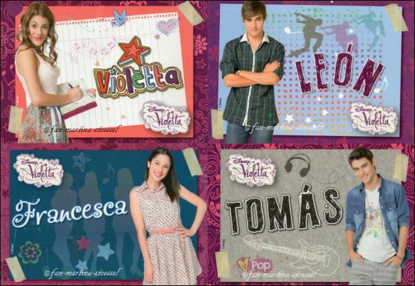 Pour la dernière question, qui a accompagné Francesca, Violetta, Leon et Diego en Espagne ?