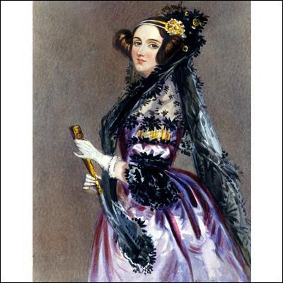 Qu'a inventé vers 1845 Lady Ada Byron Lovelace, la fille du grand poète Lord Byron ?