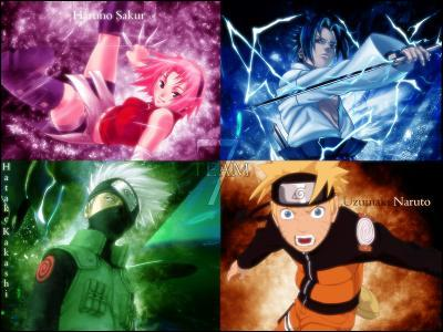 Quel est le numéro de l'équipe de Kakashi, Naruto, Sasuke et Sakura ?