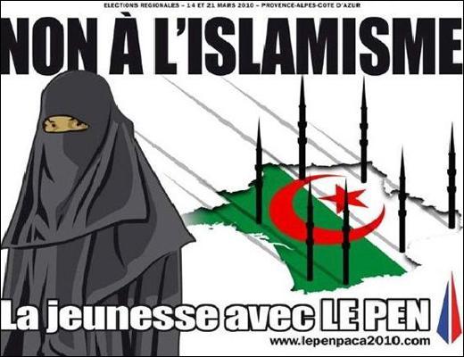Cette affiche a t-elle été publiée par le Front National, ou est-ce seulement un montage sans lien avec ce parti politique français ?