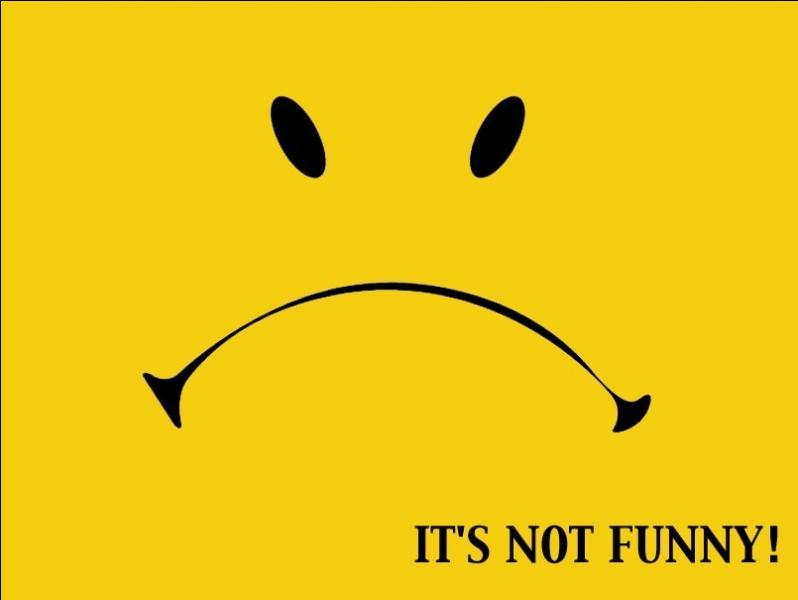 Je déconnais avec cette réplique de Robert De Niro ! Oh, Ok, so you think it's  no laughing matter  ? Que pensez-vous ?