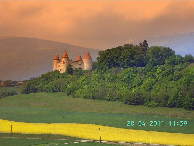 Quel monument médiéval aperçoit-on sur cette vue ?