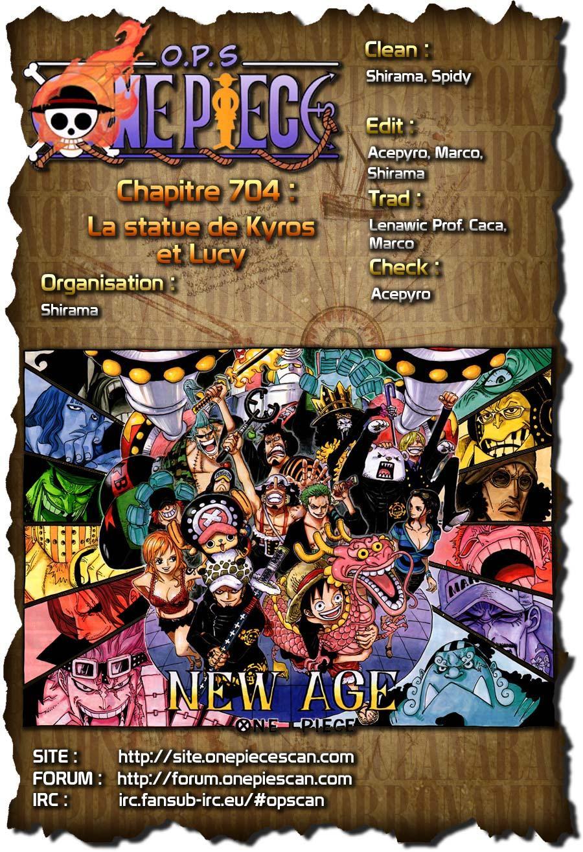 One Piece : personnages de l'arc Dressrosa et de Punk Hazard