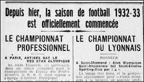 Quand a été jouée la première journée de la Ligue 1 ?