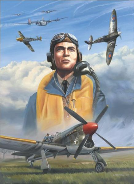 Il vous faut trouver celui que le général de Gaulle appela « le 1er chasseur de France » ! C'est l'as des as français avec 33 victoires aériennes homologuées. Après-guerre, il fut également ingénieur et homme politique. Qui est-il ?