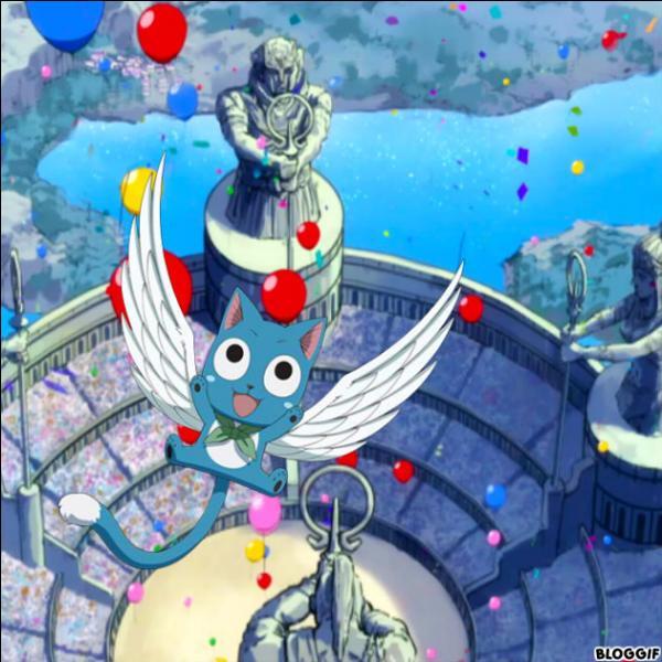 Est-ce que Happy fait partie d'une équipe, dans les grands jeux magiques ?