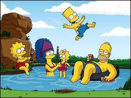 J'observe l'image et je vois : la famille Simpson !