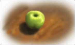 J'observe l'image et je vois : une balle de tennis !