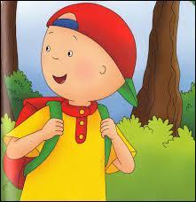 J'observe l'image et je vois : un petit garçon qui possède un cartable rouge !