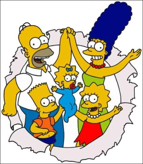 Comment s'appellent les enfants de la famille Simpson ?