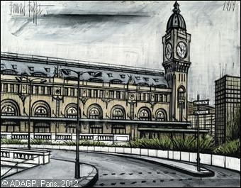 Qui a peint La gare de Lyon et l'horloge ?