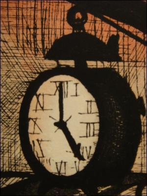 Qui a peint L'horloge la croix et la mort ?