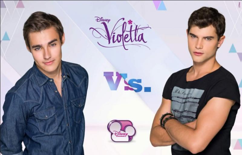 Dans la saison 2, avec qui Leon est-il en concurrence pour séduire Violetta ?