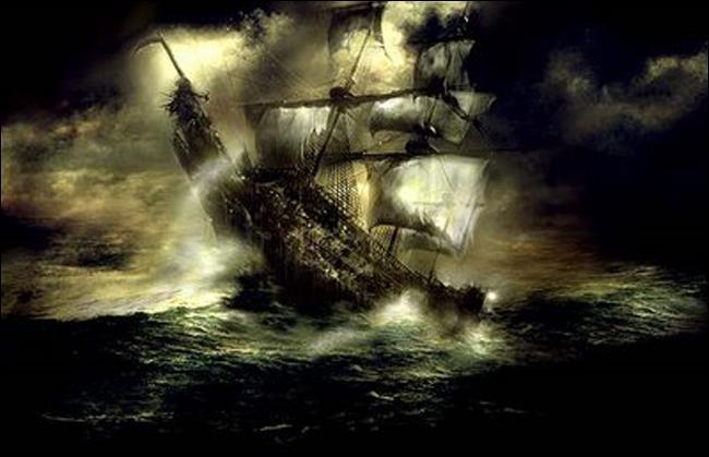 Il reste encore le vaisseau fantôme, où en avez-vous déjà vu un ?