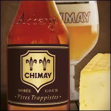 La ville de Chimay en Belgique produit des bières et des fromages. Plusieurs variétés de bières y sont brassées : la brune (capsule bleue), titrant 9%, étant la plus forte. Quelle est la plus légère (4, 8%) qui est historiquement réservée comme bière de table à la communauté monastique et ses hôtes ?