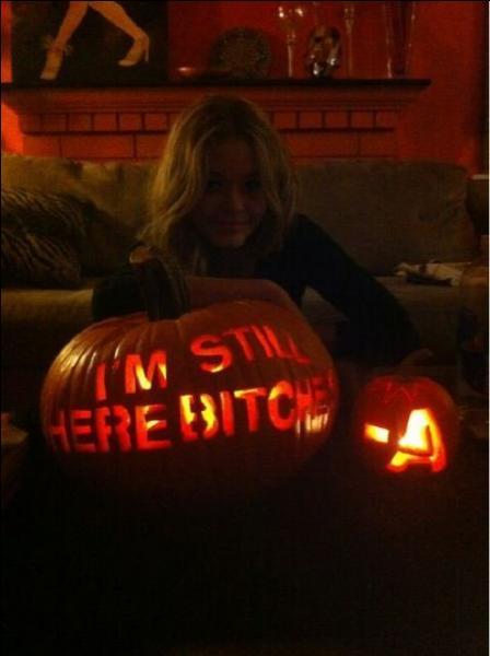 Quelle fille a été la plus touchée par -A dans les épisodes d'Halloween ?