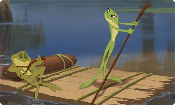 Dans  La Princesse et la grenouille , comment Tiana coupe-t-elle les champignons ?