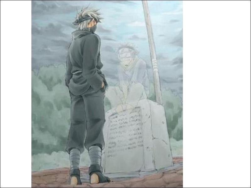 En ne tenant compte que de la première série NARUTO (jusqu'au tome 27 donc)Comment est mort Obito, l'ami d'enfance de Kakashi ?