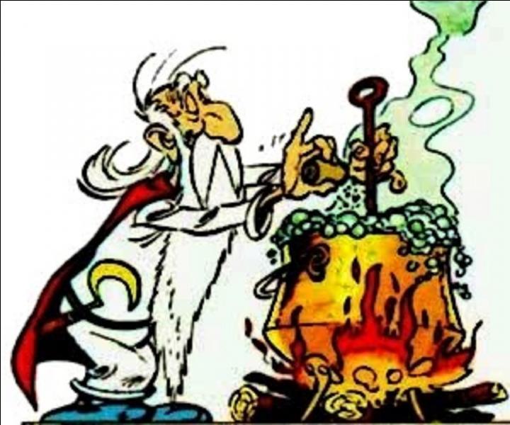 C'est le médecin du village, le sage également. Vous le trouverez toujours dans les aventures en train de donner une petite gourde à un des héros, Rassurez-vous, rien d'illégal dans cette boisson, mais les Romains ne seront pas d'accord ! Il a deux principaux outils, une serpe d'or que l'on ne peut trouver qu'à Lutèce et une marmite. Qui est-il ?