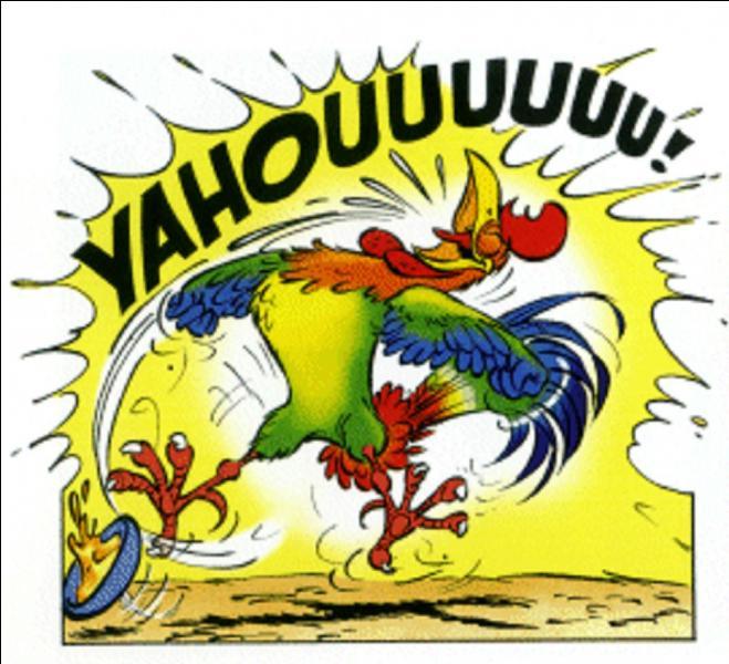 Pas de problème, ils ne risquent rien ! Ce n'est pas ce type de viande dont Obélix raffole. Ils sont un coq, une poule et un poussin, mais, connaissez-vous leurs noms ?