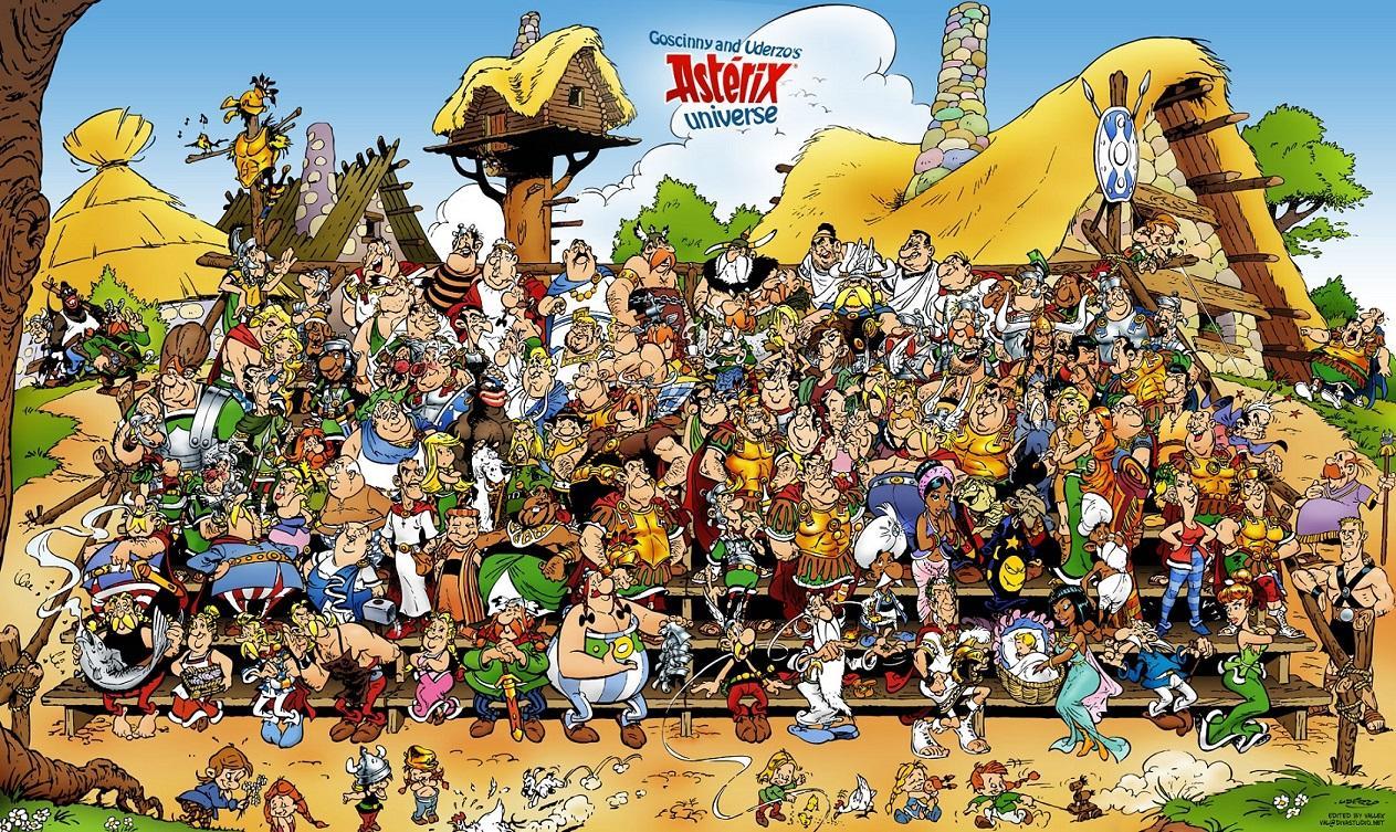 Astérix et Obélix, et certains de leurs compagnons de BD !