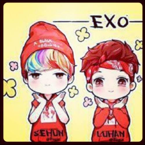 De quelle personne dans EX0 Sehun est-il très proche ?