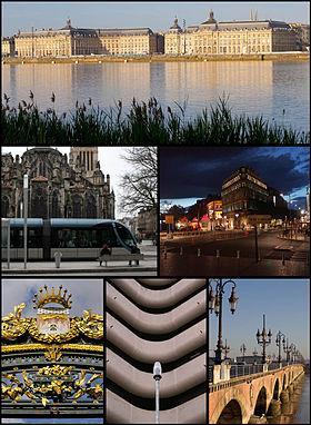 Capitale du duché d'Aquitaine en 1032 puis port anglais de 1154 à 1453 :