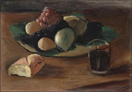 Que contient le verre de la nature morte d'André Derain ?