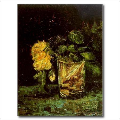 Quelle fleur a posé van Gogh dans ce verre ?