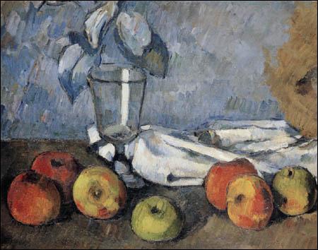 Quels fruits accompagnent le verre de Paul Cézanne ?