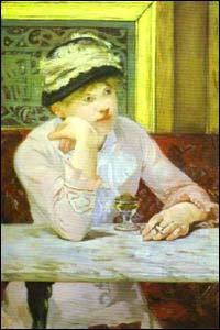 Qu'a peint Edouard Manet dans ce verre ?