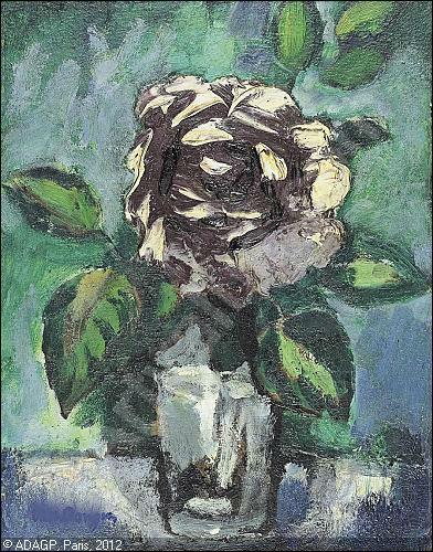 Quelle fleur est représentée dans ce verre de Kees van Dongen ?