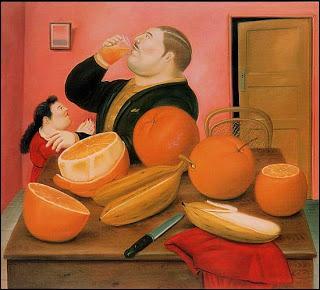 Qu'a mis Fernando Botero dans le verre qu'il a peint ?