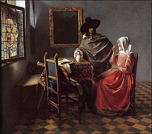 Que boit cette jeune fille représentée par Johannes Vermeer ?