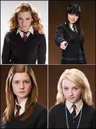 Qui n'accompagne pas Harry Potter au département des Mystères ?