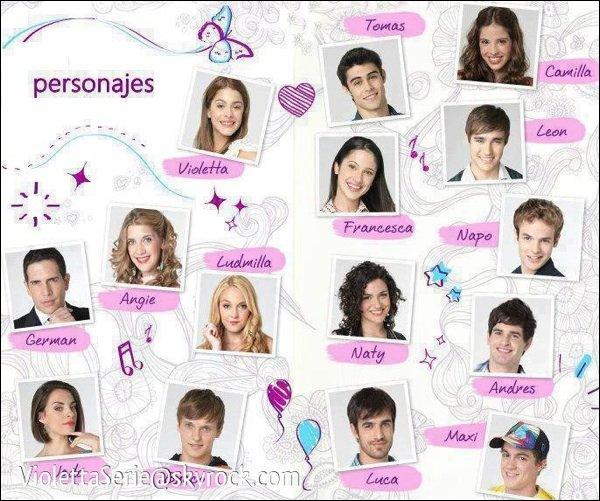 Revenons à la serie, cochez les personnes qui font partie de la même famille que Violetta.