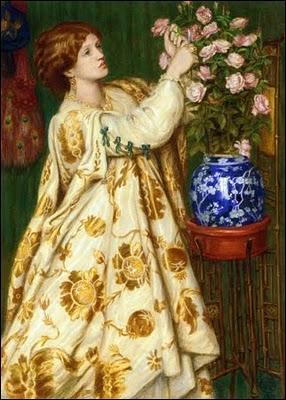 Quel peintre britannique, également poète et écrivain, est l'auteur de ce portrait intitulé  Monna Rosa  ?