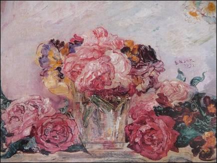 Les roses , nature morte réalisée en 1892 par un peintre expressionniste belge. Qui est ce peintre ?