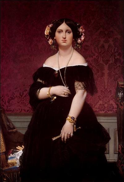 Madame Paul-Sigisbert Moitessier . Quel artiste néo-classique du 19e siècle est l'auteur de ce portrait réalisé en 1851 ?